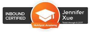 Jennifer Xue, business writer Hubspot Inbound Certified